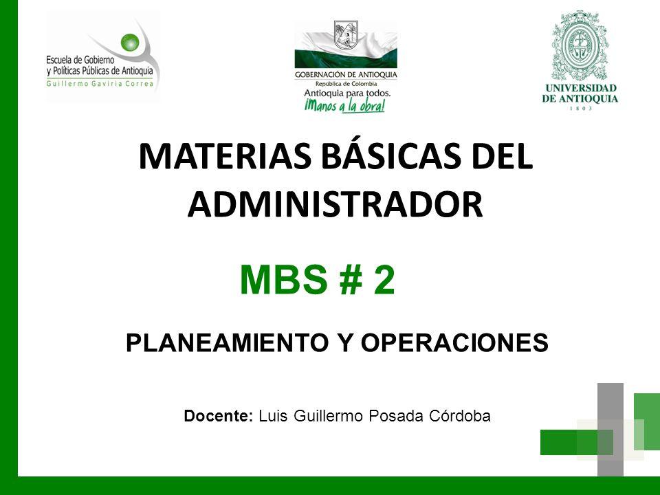 MATERIAS BÁSICAS DEL ADMINISTRADOR