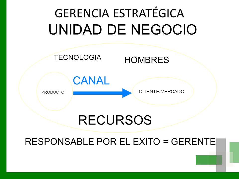 UNIDAD DE NEGOCIO GERENCIA ESTRATÉGICA RECURSOS CANAL