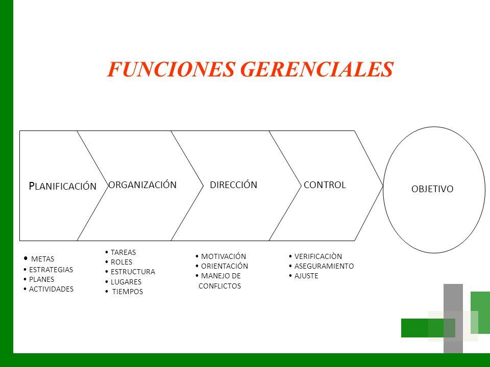 FUNCIONES GERENCIALES