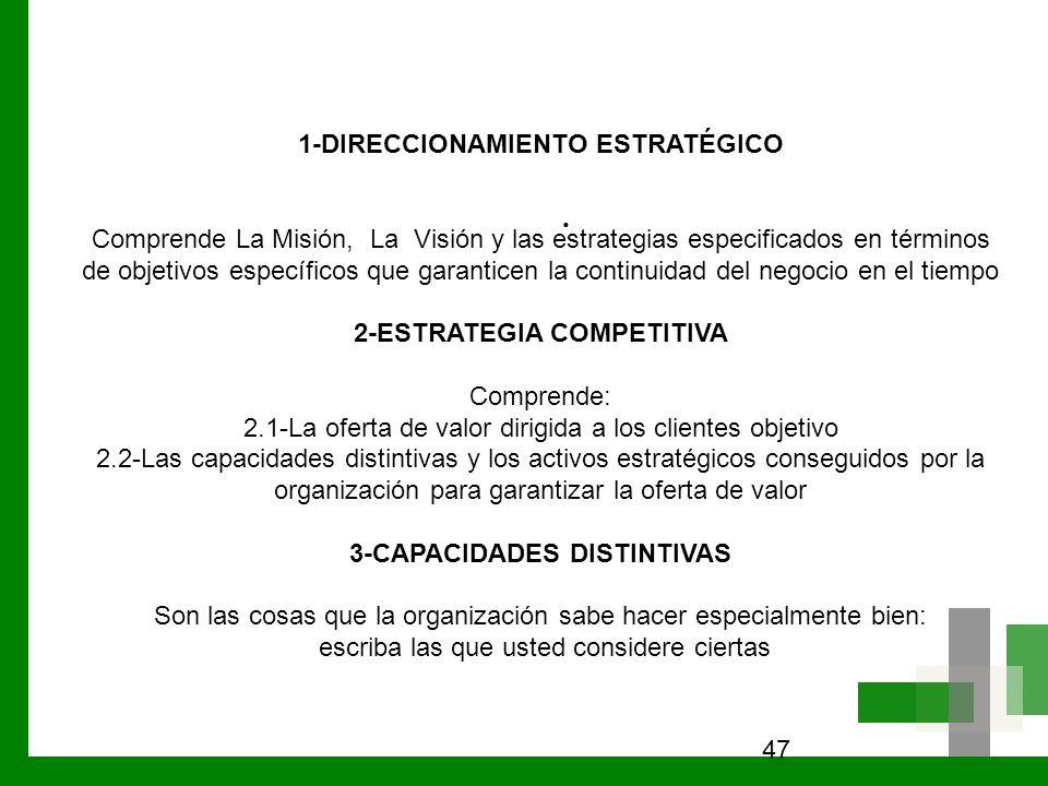 . 1-DIRECCIONAMIENTO ESTRATÉGICO
