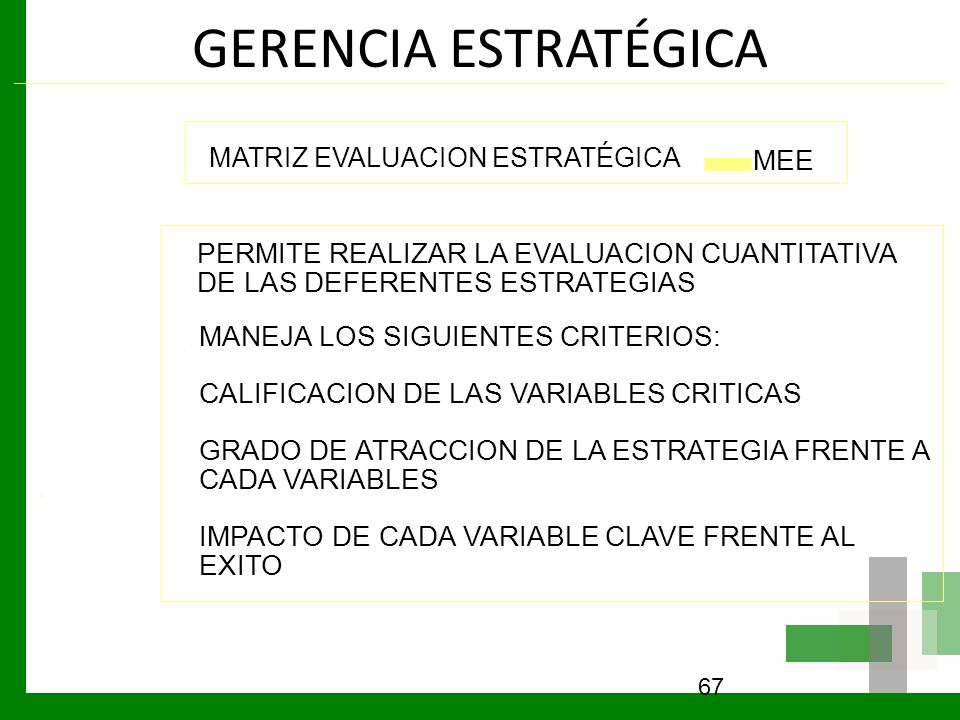 GERENCIA ESTRATÉGICA MEE