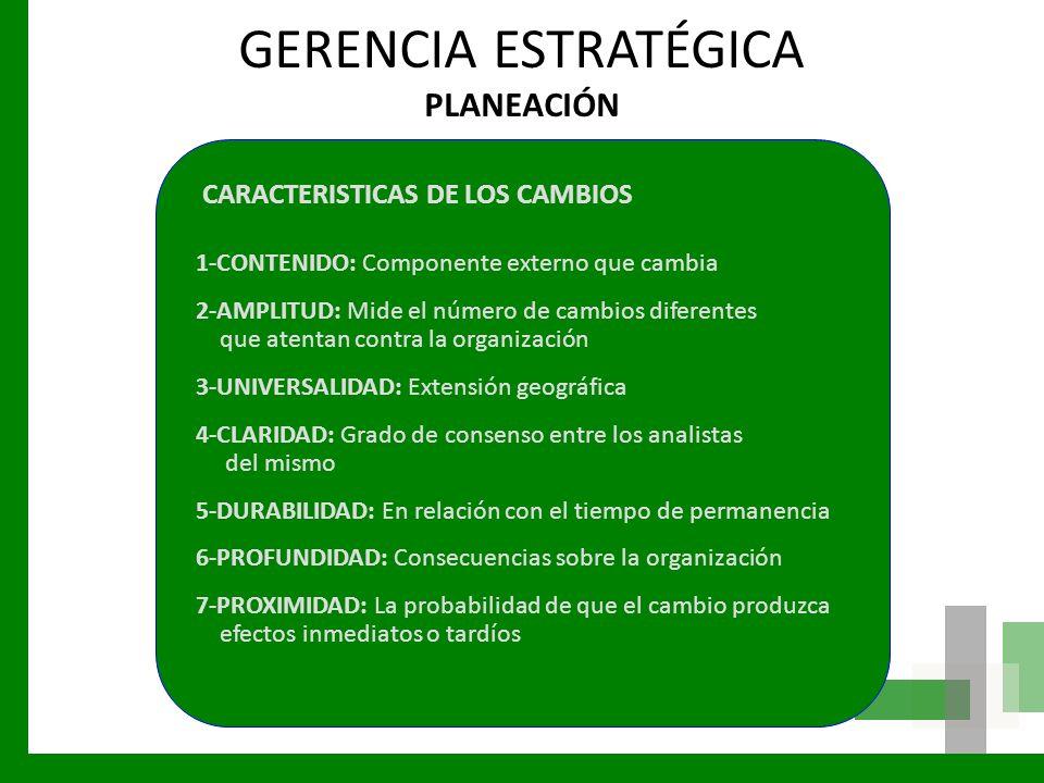 GERENCIA ESTRATÉGICA PLANEACIÓN