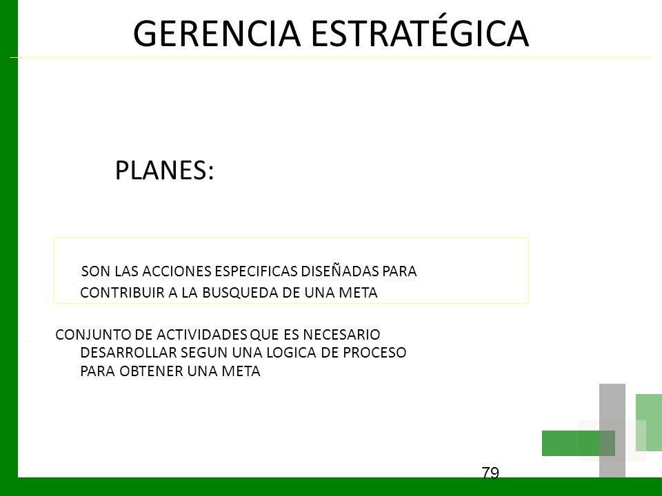 GERENCIA ESTRATÉGICA PLANES: