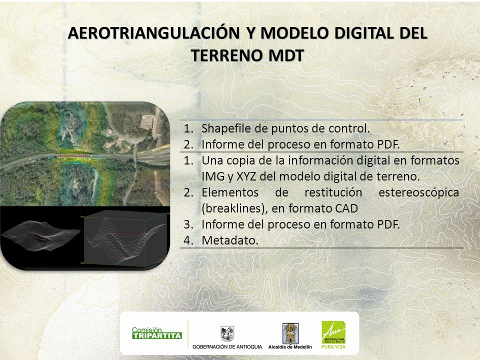 AEROTRIANGULACIÓN Y MODELO DIGITAL DEL TERRENO MDT