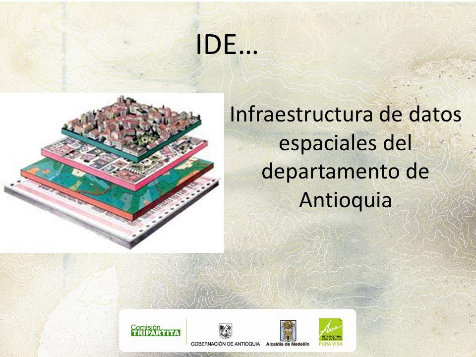 Infraestructura de datos espaciales del departamento de Antioquia
