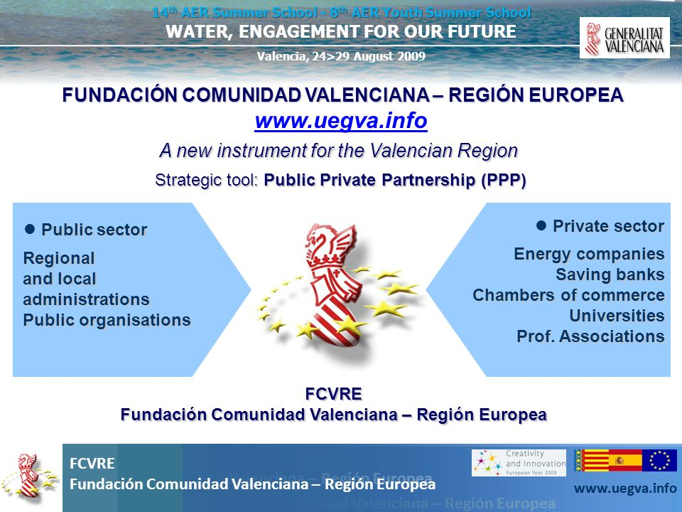 www.uegva.info A new instrument for the Valencian Region