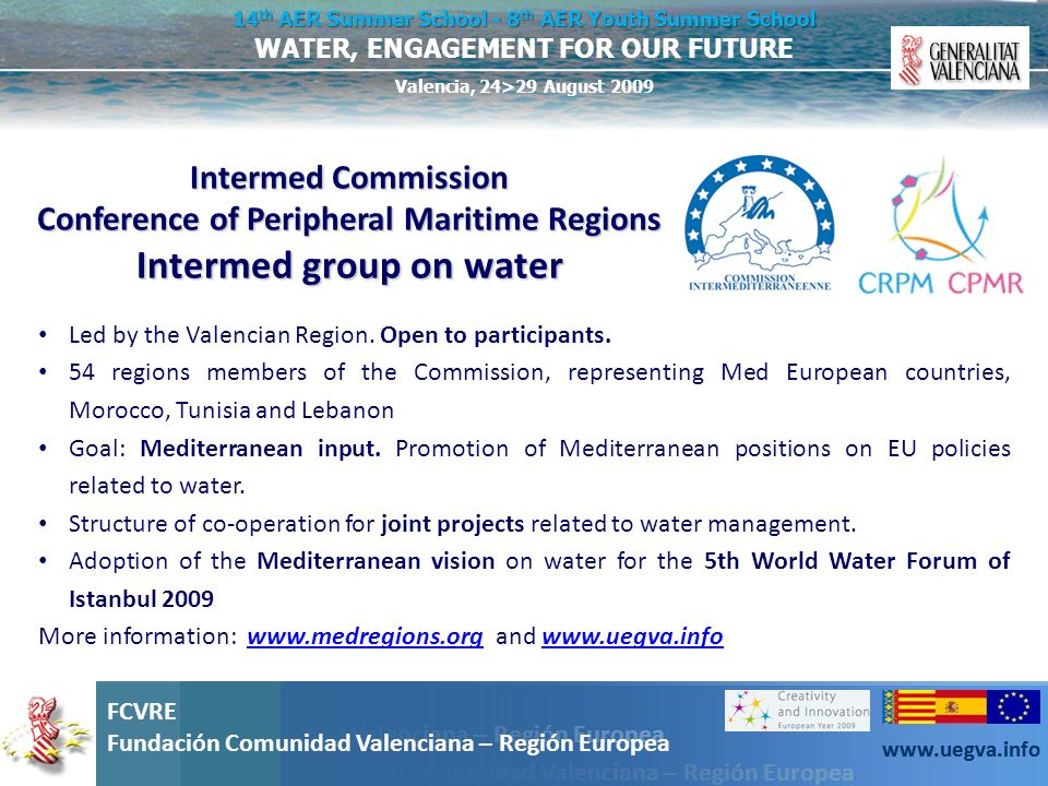 Intermed group on water