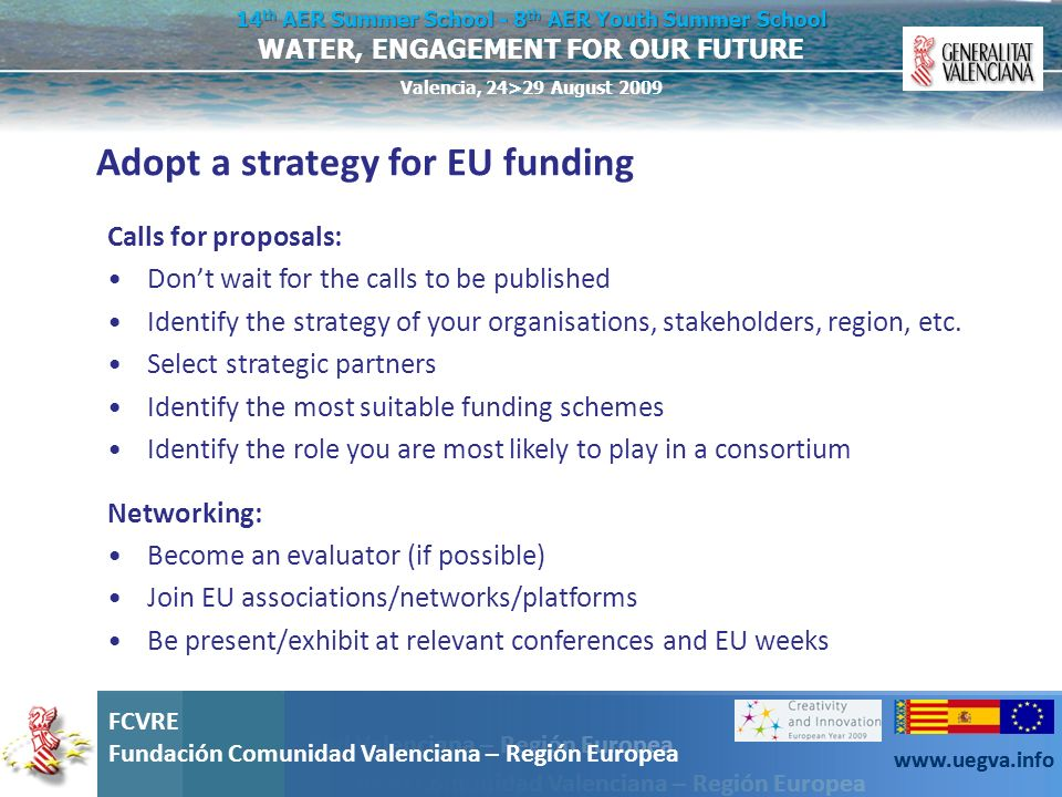 Adopt a strategy for EU funding