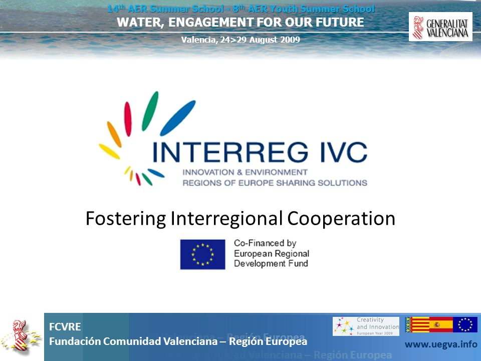 Fostering Interregional Cooperation