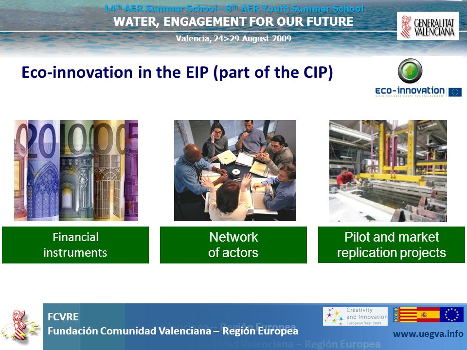 Eco-innovation in the EIP (part of the CIP)