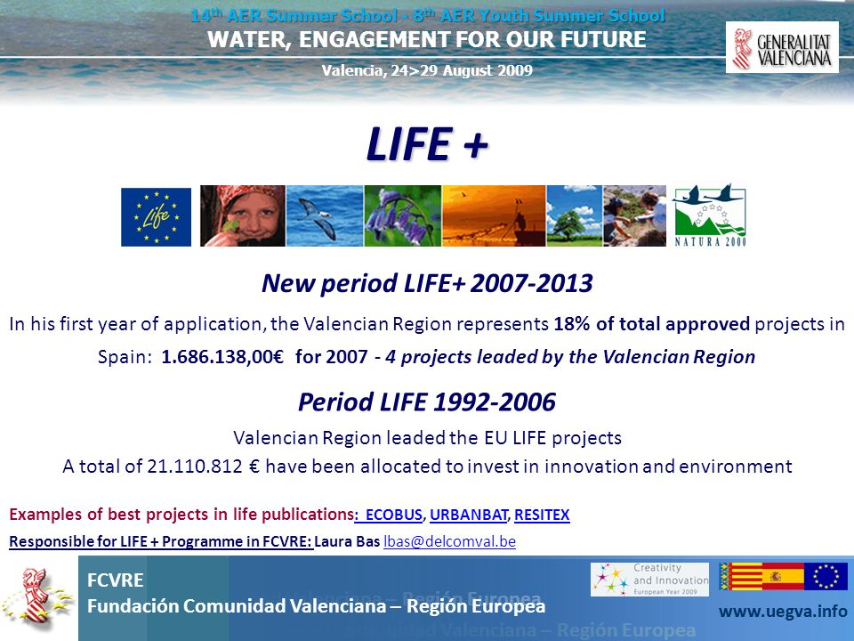 Valencian Region leaded the EU LIFE projects