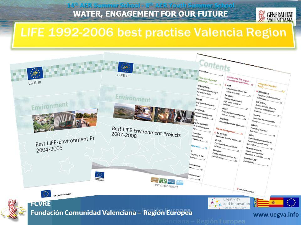 LIFE 1992-2006 best practise Valencia Region