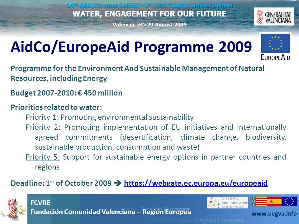 AidCo/EuropeAid Programme 2009