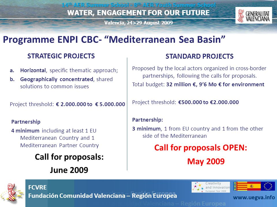 Programme ENPI CBC- Mediterranean Sea Basin