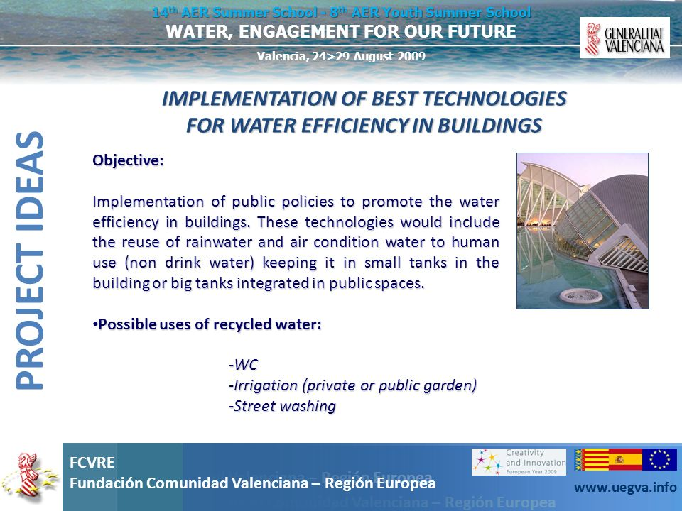 IMPLEMENTATION OF BEST TECHNOLOGIES FOR WATER EFFICIENCY IN BUILDINGS