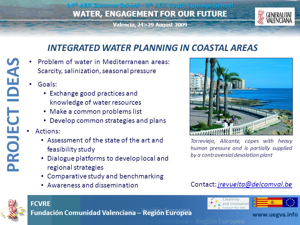 INTEGRATED WATER PLANNING IN COASTAL AREAS