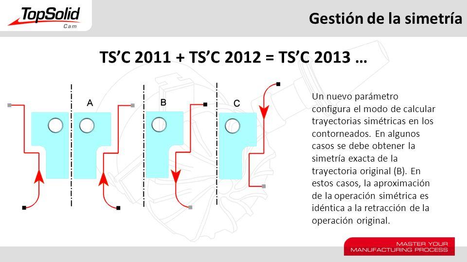 TS'C 2011 + TS'C 2012 = TS'C 2013 … Gestión de la simetría