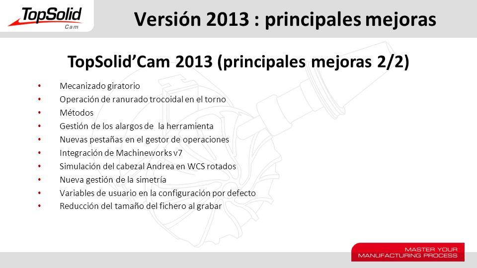 Versión 2013 : principales mejoras