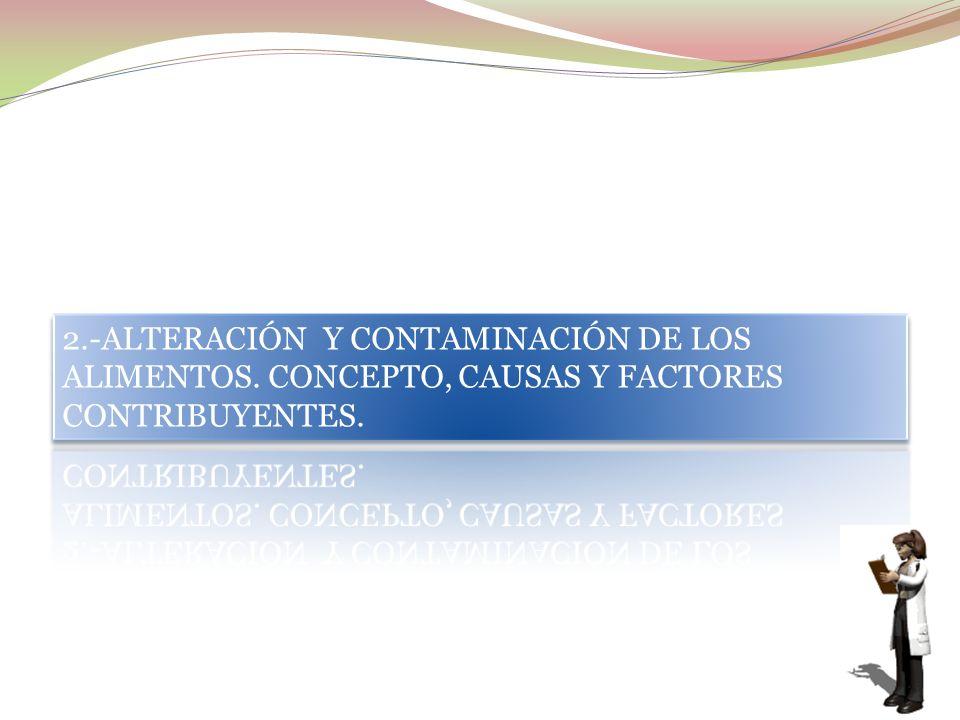 2. -ALTERACIÓN Y CONTAMINACIÓN DE LOS ALIMENTOS