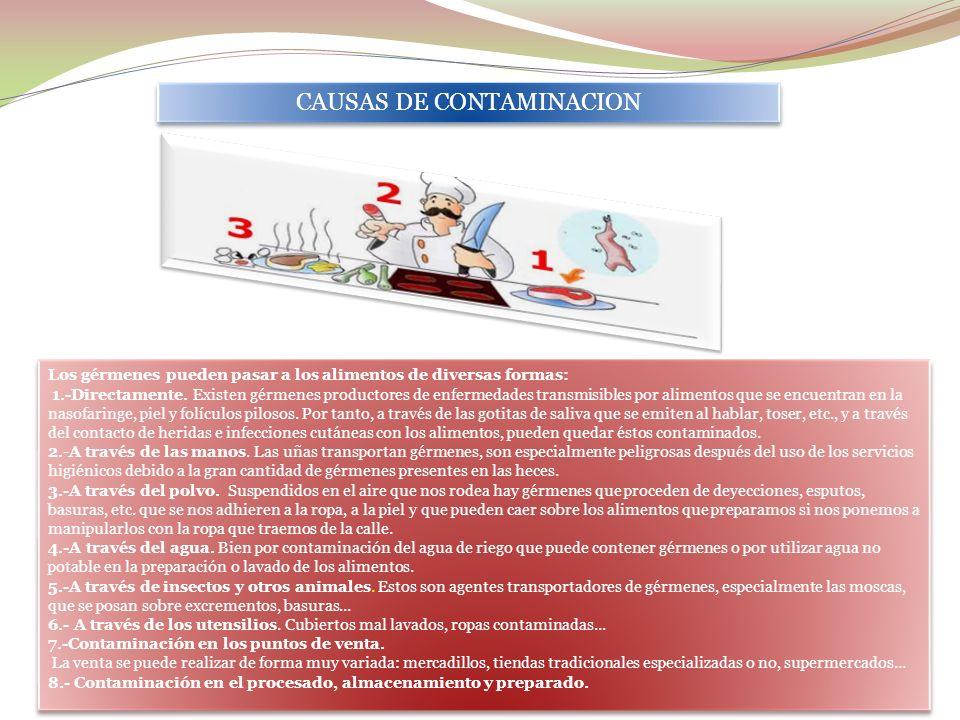 CAUSAS DE CONTAMINACION