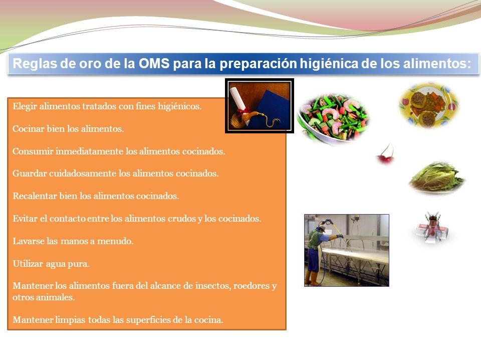 Reglas de oro de la OMS para la preparación higiénica de los alimentos: