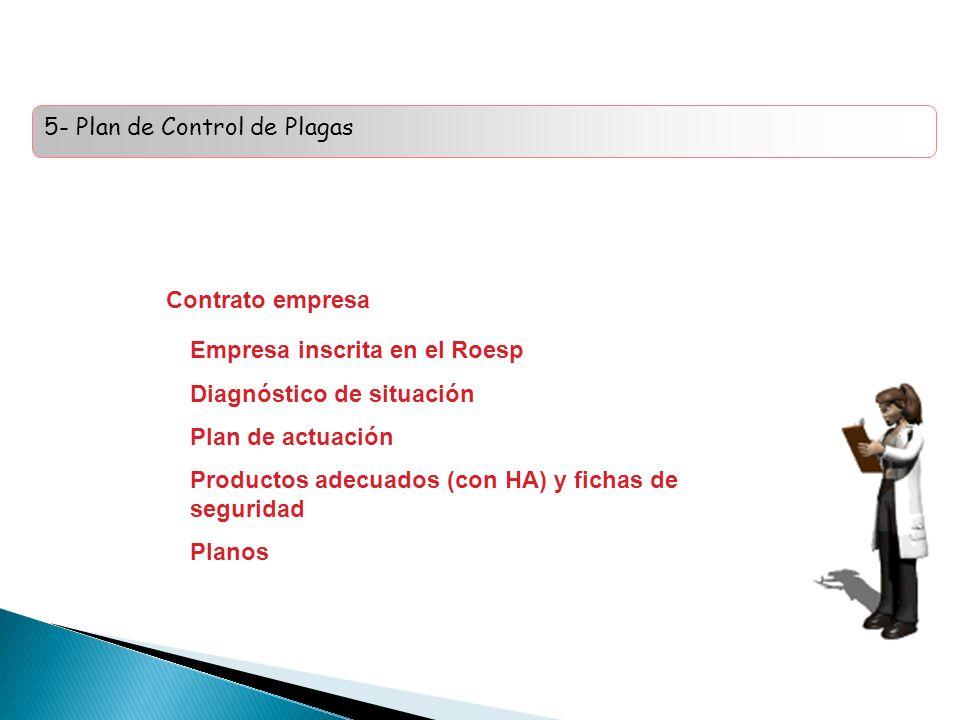 5- Plan de Control de Plagas