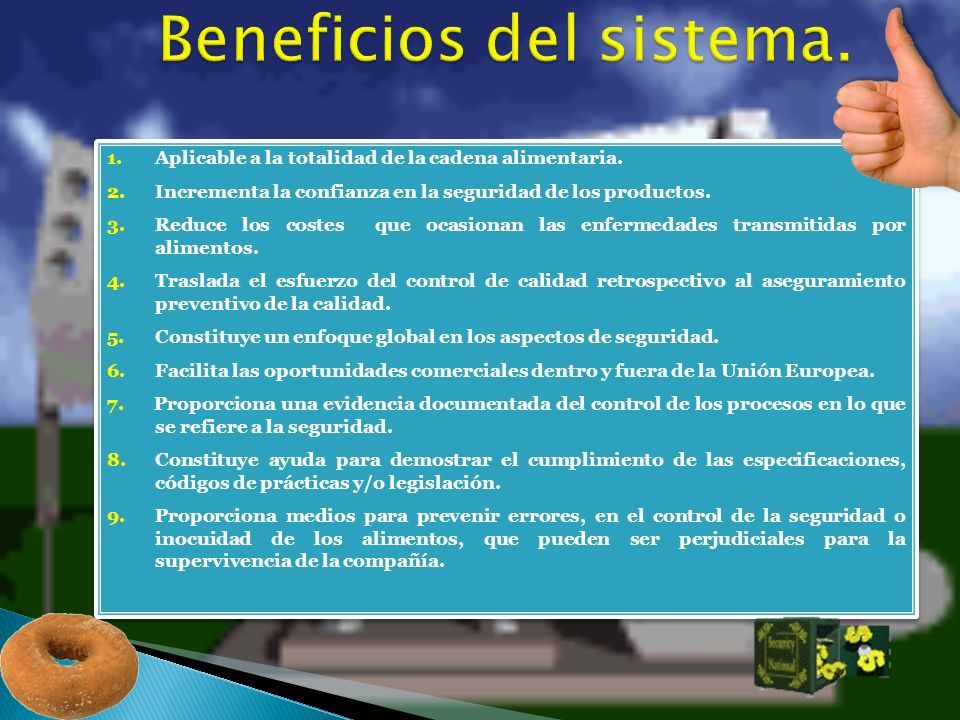 Beneficios del sistema.