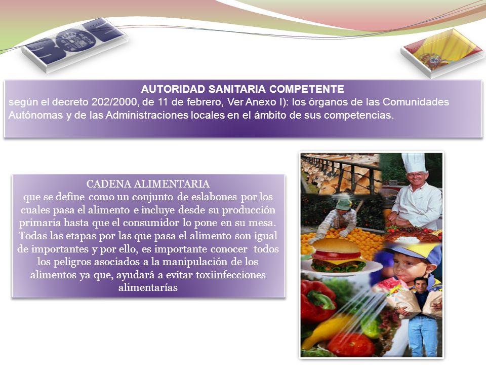 AUTORIDAD SANITARIA COMPETENTE