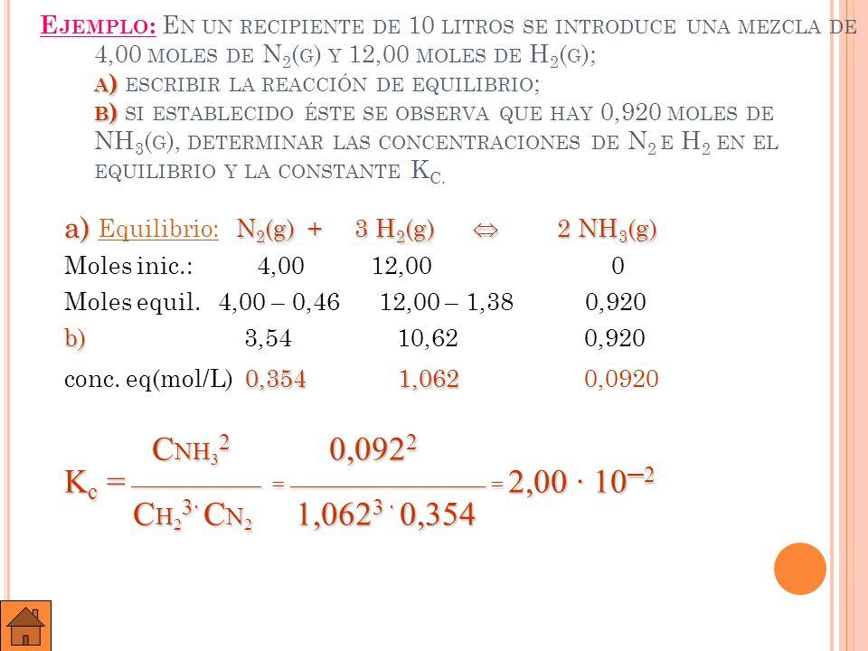 Kc = —————— = ————————— = 2,00 · 10─2