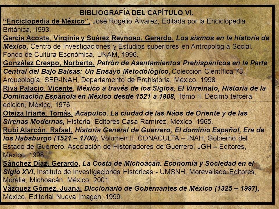 BIBLIOGRAFÍA DEL CAPÍTULO VI.