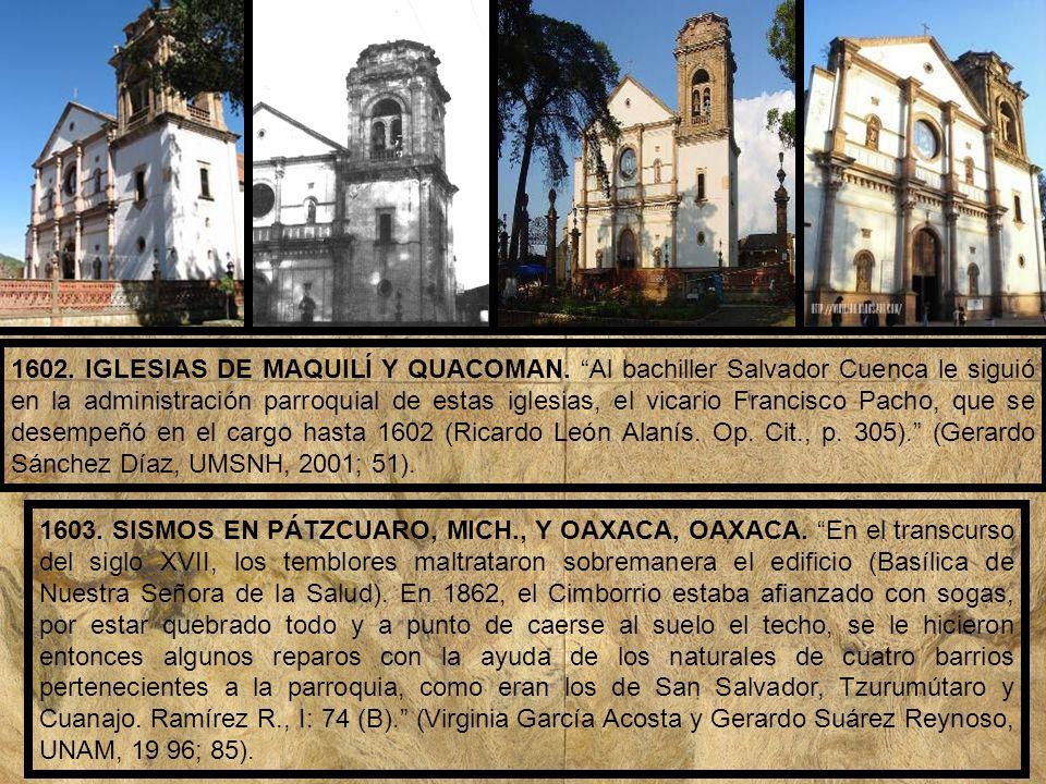1602. IGLESIAS DE MAQUILÍ Y QUACOMAN