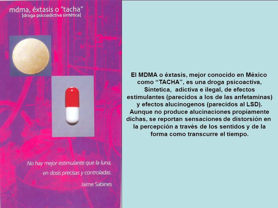 El MDMA o éxtasis, mejor conocido en México