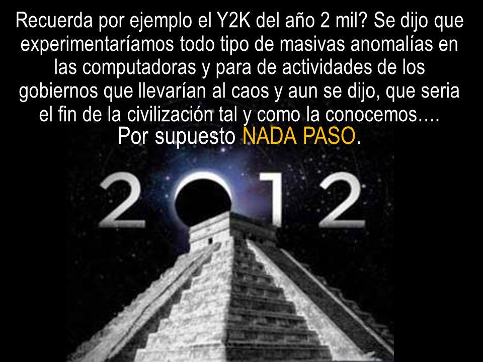 Recuerda por ejemplo el Y2K del año 2 mil