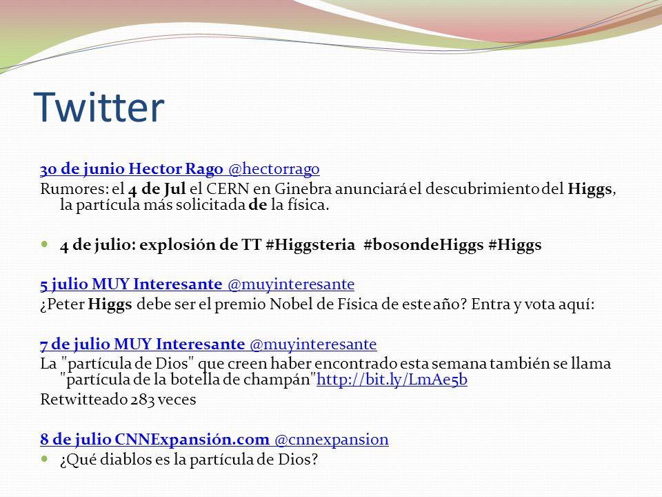 Twitter 30 de junio Hector Rago @hectorrago
