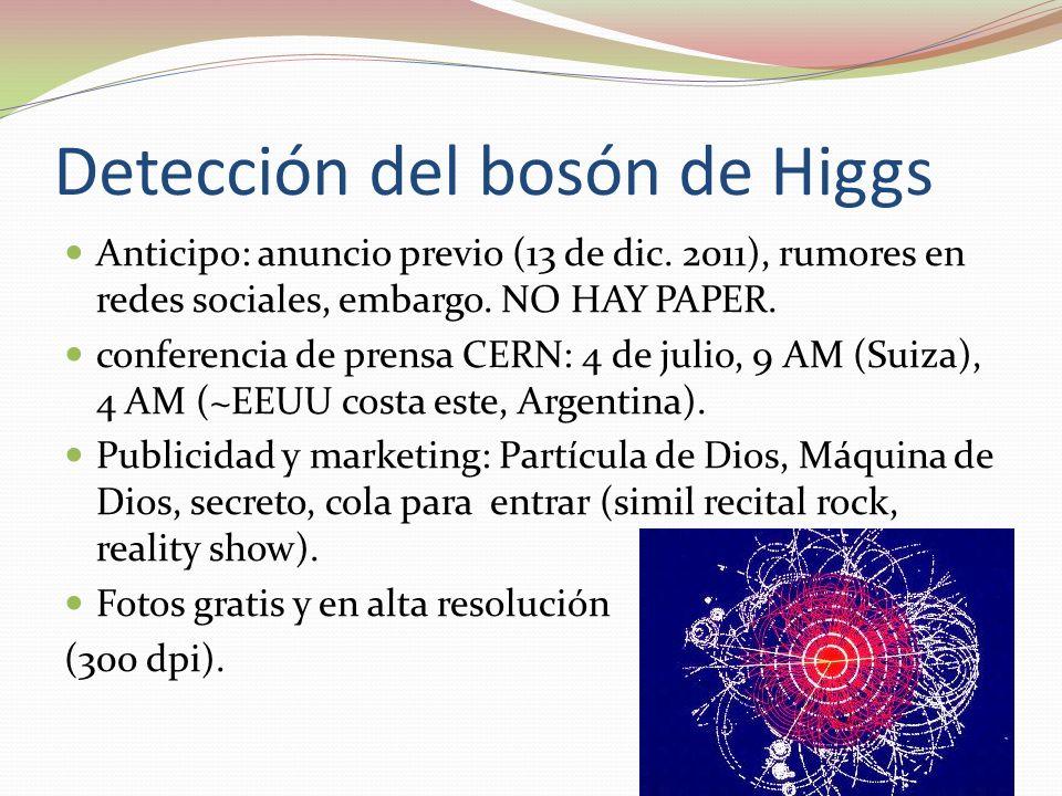 Detección del bosón de Higgs