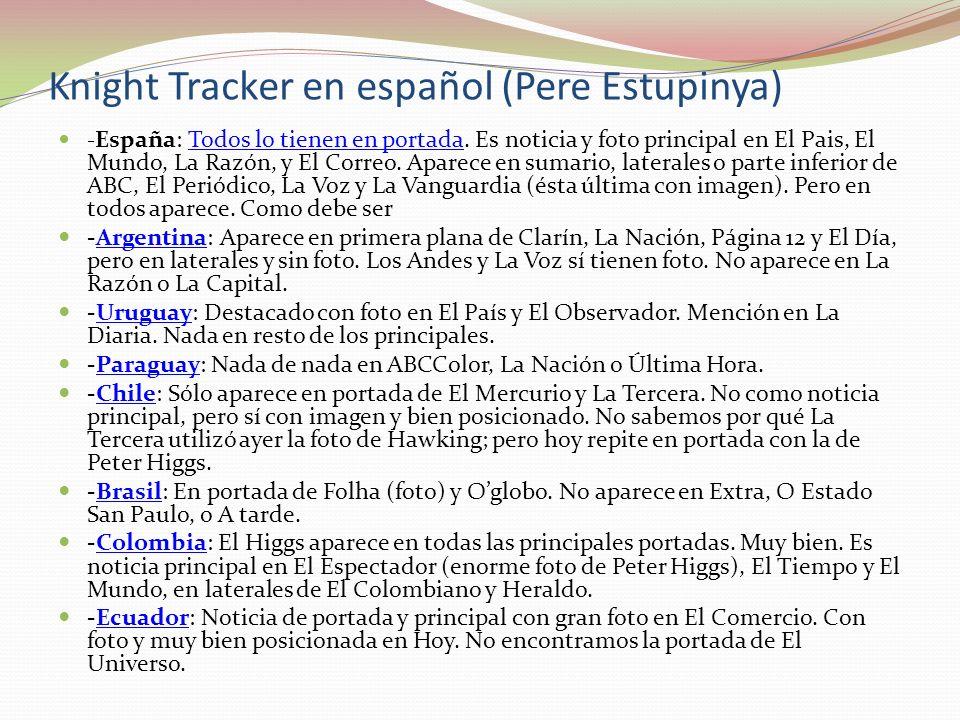 Knight Tracker en español (Pere Estupinya)