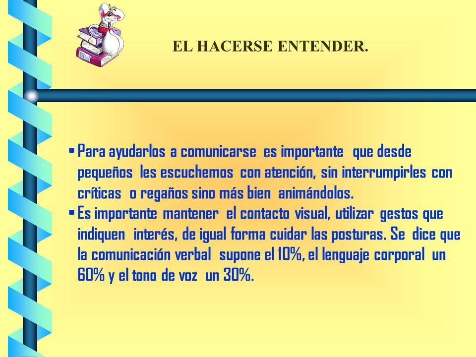 EL HACERSE ENTENDER.