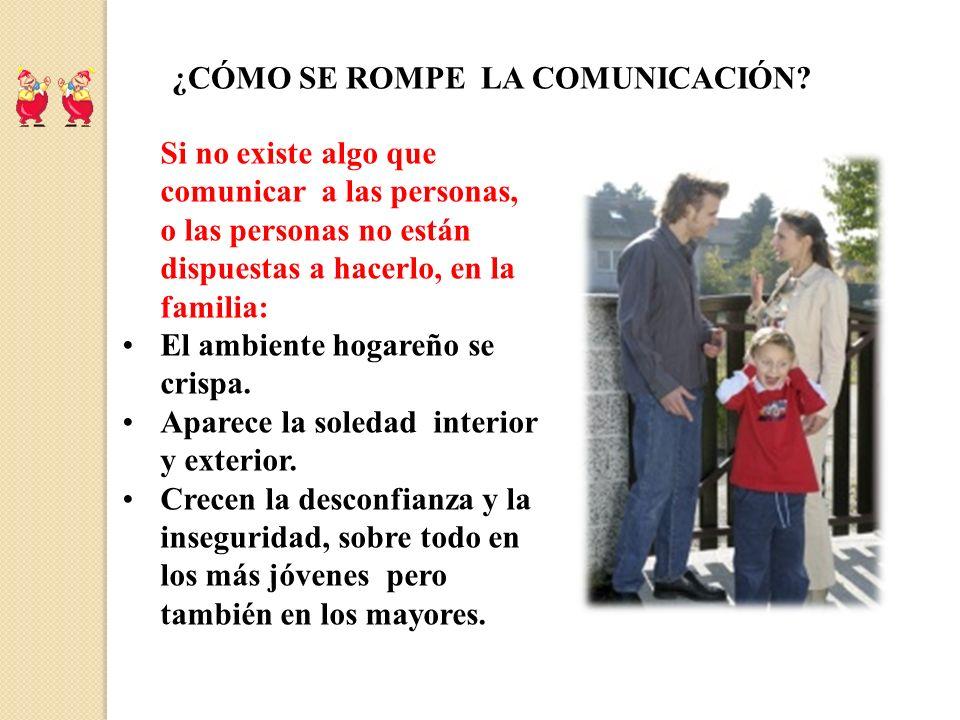 ¿CÓMO SE ROMPE LA COMUNICACIÓN