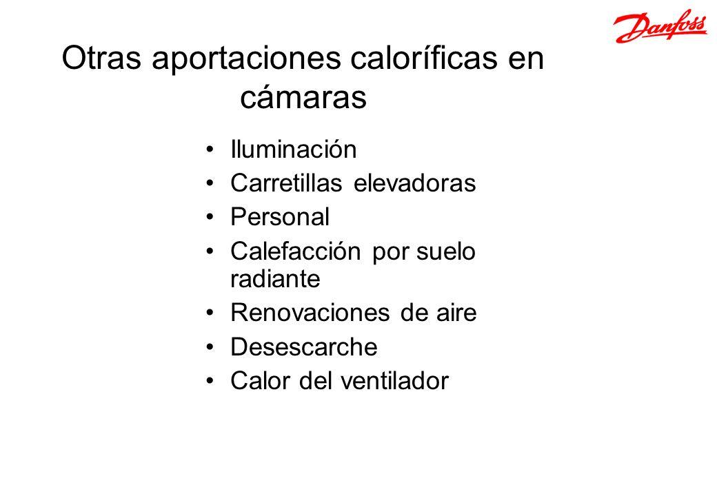 Otras aportaciones caloríficas en cámaras