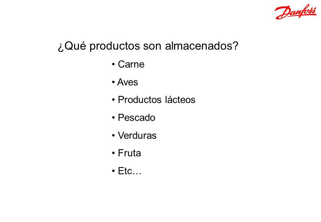 ¿Qué productos son almacenados