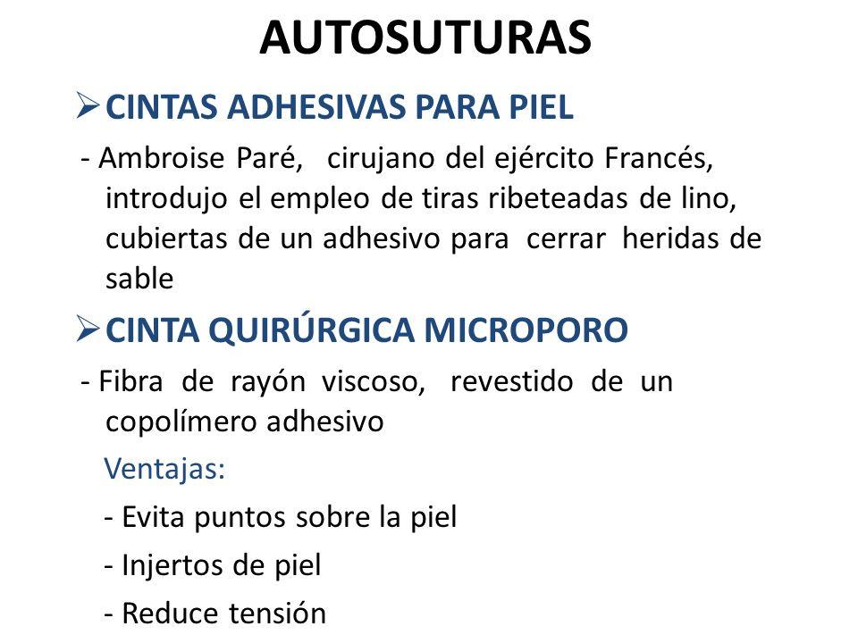 AUTOSUTURAS CINTAS ADHESIVAS PARA PIEL CINTA QUIRÚRGICA MICROPORO