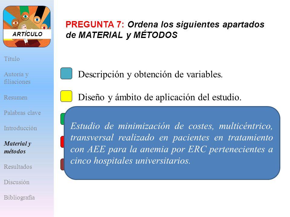 Descripción y obtención de variables.