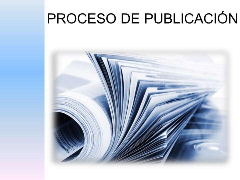 PROCESO DE PUBLICACIÓN
