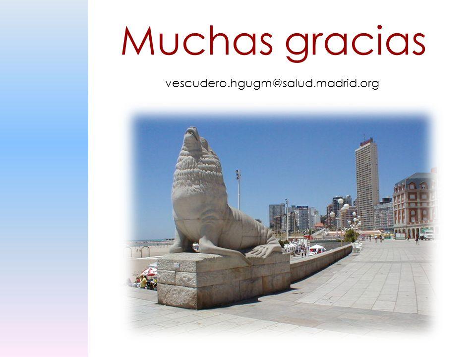 Muchas gracias vescudero.hgugm@salud.madrid.org