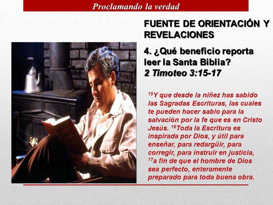 FUENTE DE ORIENTACIÓN Y REVELACIONES