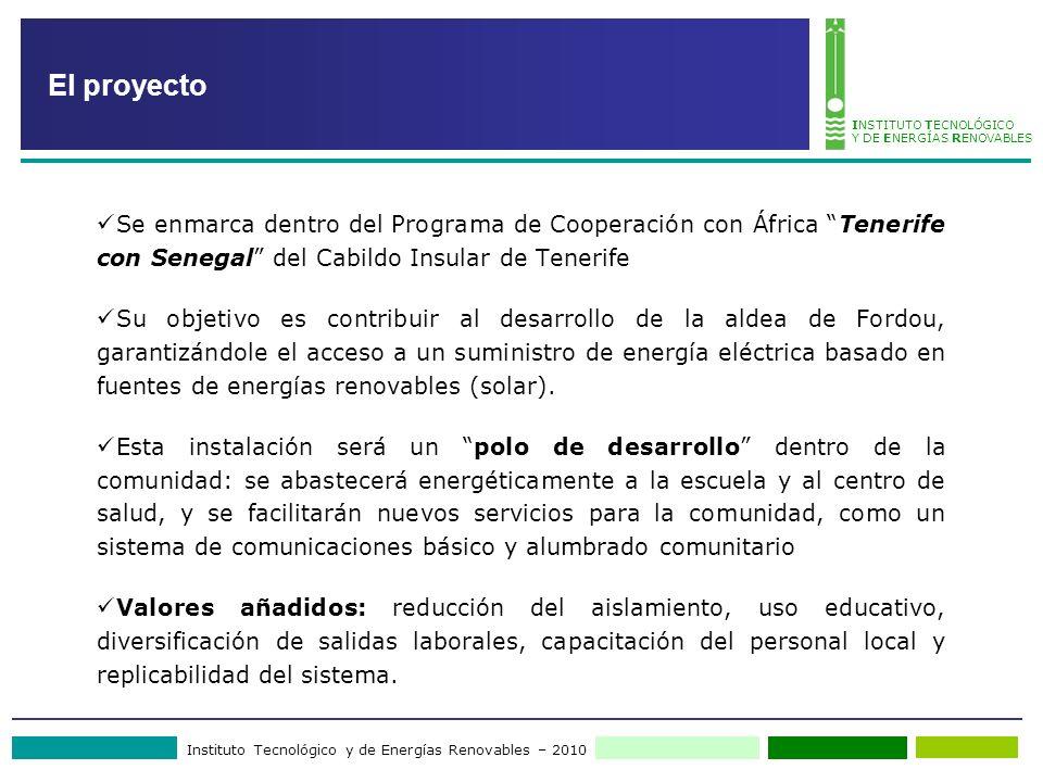 El proyecto Se enmarca dentro del Programa de Cooperación con África Tenerife con Senegal del Cabildo Insular de Tenerife.
