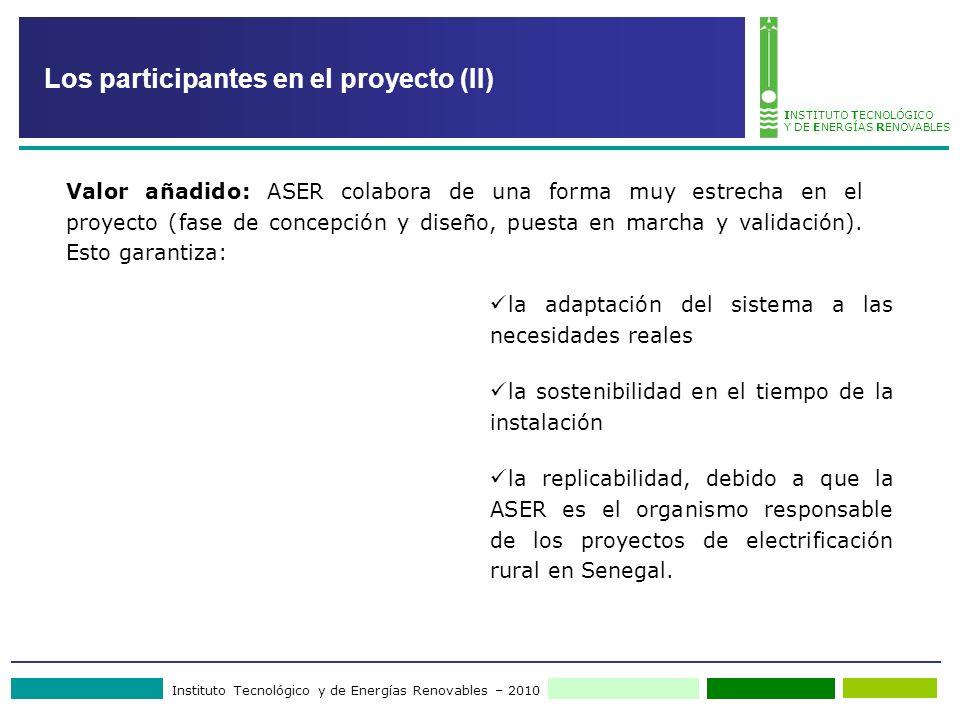 Los participantes en el proyecto (II)