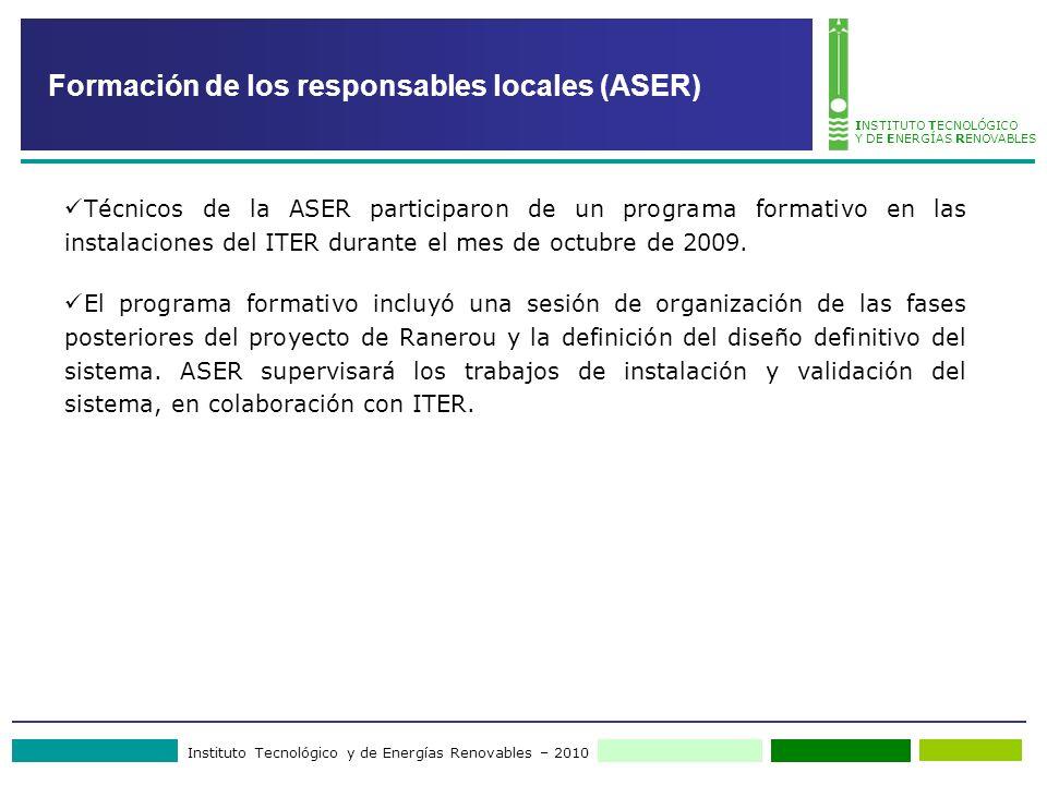 Formación de los responsables locales (ASER)