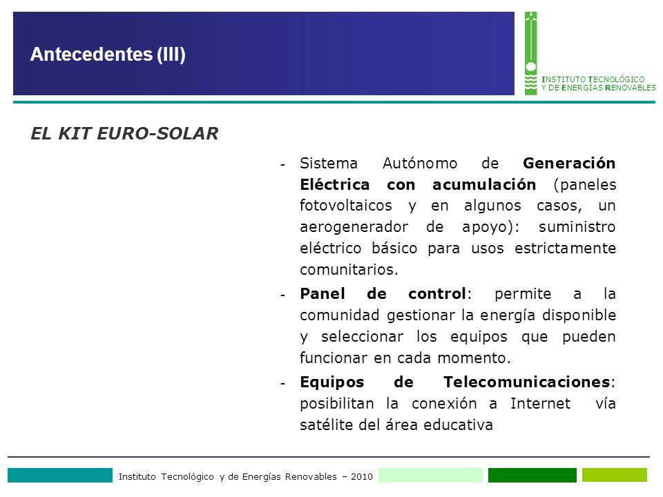 Antecedentes (III) EL KIT EURO-SOLAR