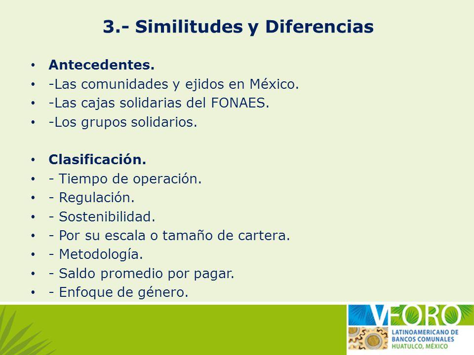 3.- Similitudes y Diferencias